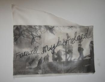 """Detail of Ipek Duben's """"Crossings,"""" 2007"""